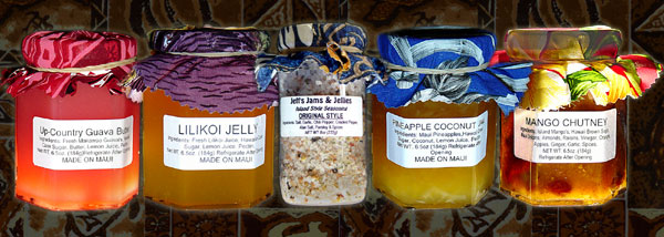 Tropical Jams and Tropical Jellies made on Maui in Hawaii